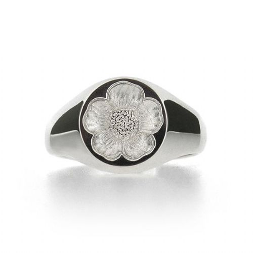 Silver Buttercup Seal Ring